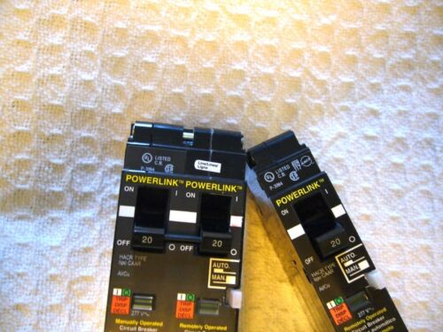 SQUARE D POWERLINK ECB14020G3 REMOTELY OPERATED CIRCUIT BREAKERS 20 AMP 277V