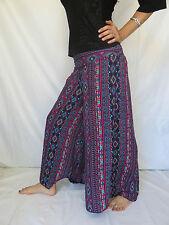 Pantalon Papillon Aztec Bleu Rouge - Vetements Ethniques Hippie Baba Cool