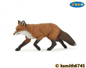 Papo-FOX-solid-plastic-toy-wild-zoo-woodland-animal-predator-NEW