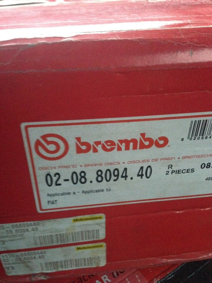 Bremsedele, Bremseskive, Fiat Ducato