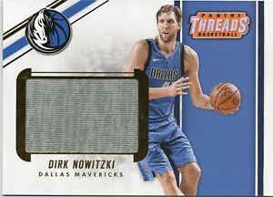 2017-Panini-Threads-Box-Topper-Memorabilia-BTM-DNW-Dirk-Nowitzki-Basketball-Card