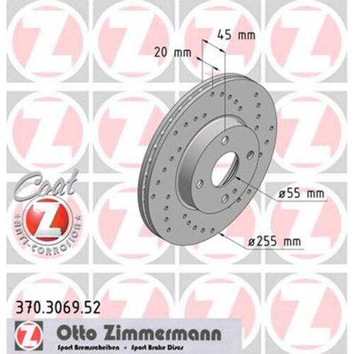 2 Zimmermann Sport-Bremsscheiben vorne Mazda MX-5 NA NB 1,6 1,8 1,9 16V