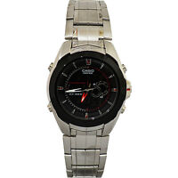 Casio EFA119BK-1AV Men's Analog & Digital Edifice Thermometer World Time Watch