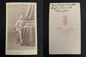 Van-Eelde-Wiesbaden-Graf-Henry-Hereford-Watkin-von-Bismarck-Vintage-carte-de-v