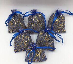 6-Blue-Lavender-Sachets-Dried-Flower-Buds-Blue-Bags-Potpourri-Mix-Home-Decor