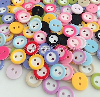 500Pcs Mixed Colors 2-Holes Resin Button Fit Sewing Or Scrapbook 1mm Brk512