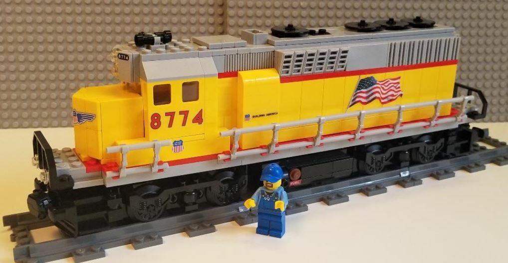 Lego Tåg Egen Union Pacific GP40 - LÄS BESKRIVNING AV POSTER
