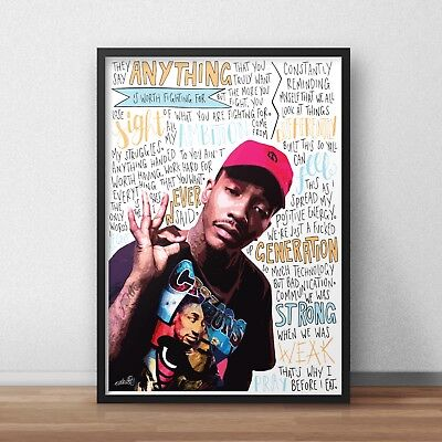 Mac Miller INSPIRED WALL ART Print HIP HOP Rap Lyrics Rapper Poster A4 A3