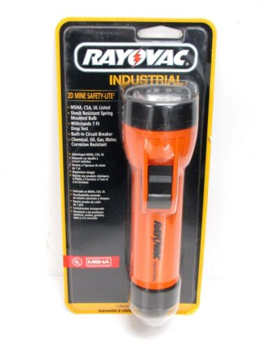 NOS #IN2-MS RAYOVAC INDUSTRIAL FLASHLIGHT MINE SAFETY-LITE 2D-CELL