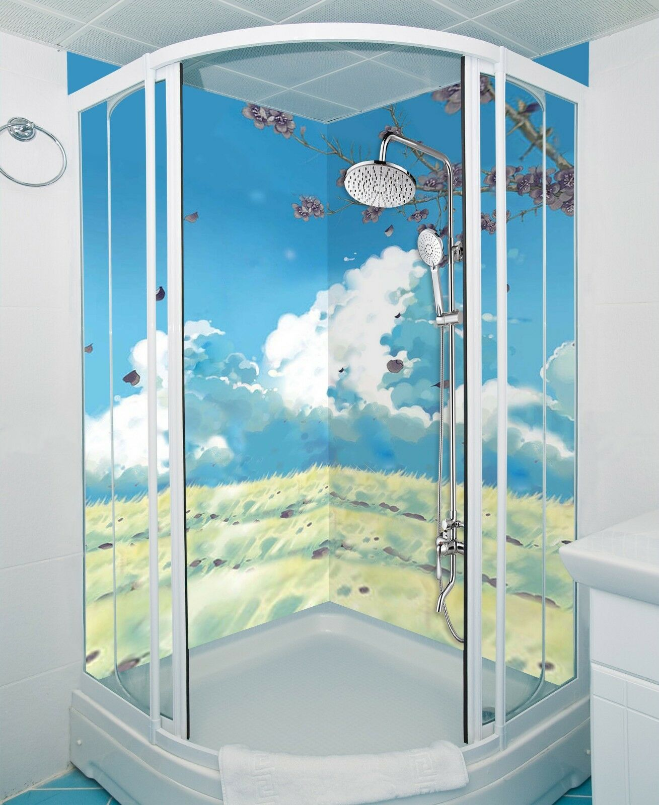 3D Sky Clouds Nature 7 WallPaper Bathroom Print Decal Wall Deco AJ WALL CA Carly