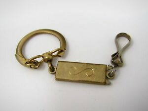 Vintage-Keychain-12K-Gold-Fill-S-Curl-Center-Textured-Nice-Design