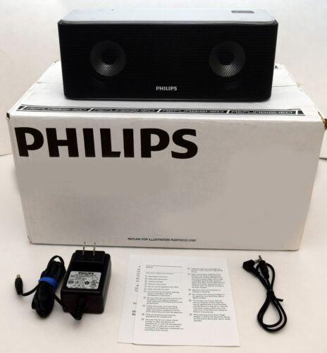 Philips SB365//37S Bluetooth Audio Wireless Portable Speaker BLACK bass-reflex