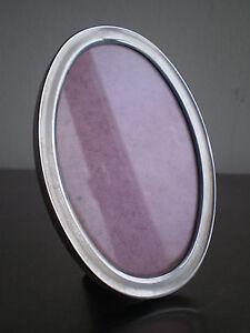 Photo-Frame-Metal-Chrome-and-Wood-Oval-Deco-Vintage-Frame-Xx-S-Framing