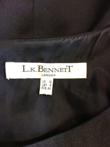 en soie droite noire Bennett Robe Lk qI7wt