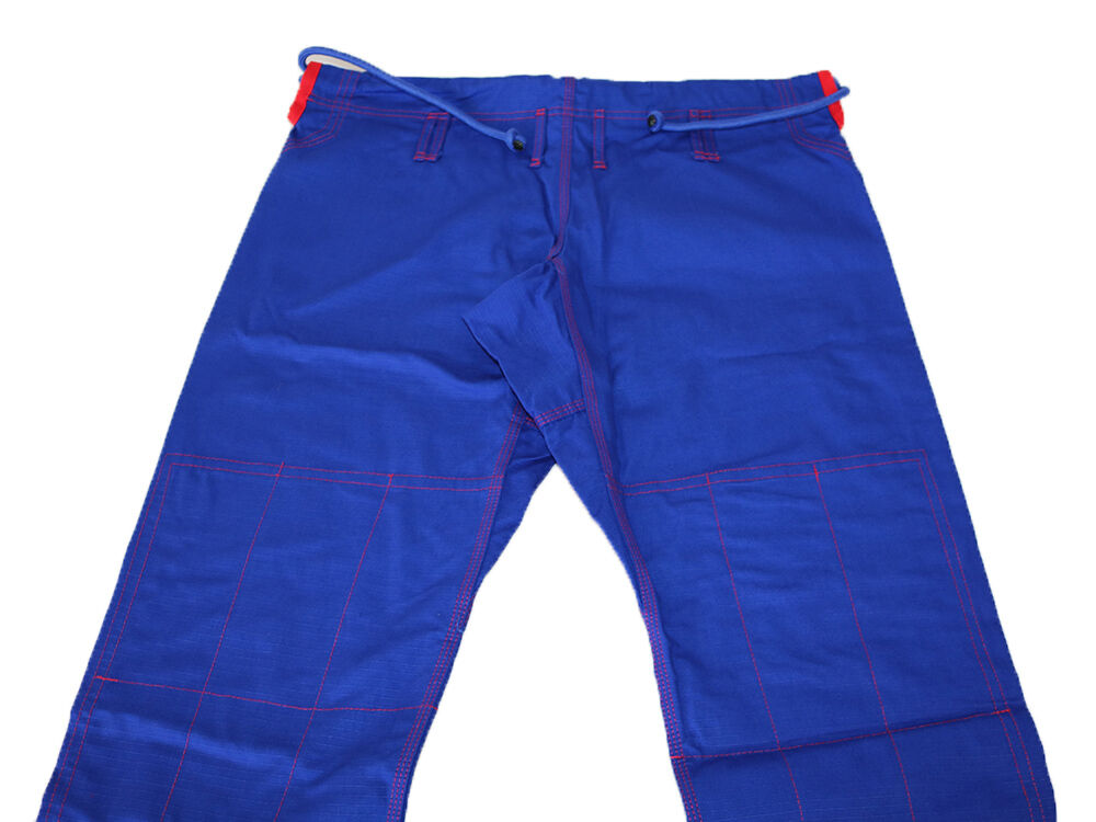 Brazilian Jiu  Jitsu Pant for Mens - blueeE RED Rip Stop 100% Cotton Preshrunk  New  customers first