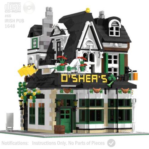 CD Lego Custom Irish Pub Modular PDF Book Instructions, Corner#66