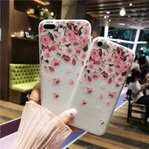 For-iPhone-8-X-6s-7-Plus-5s-Emboss-Floral-Relief-Pattern-Soft-Gel-Silicone-Case
