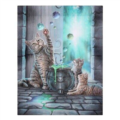 Lisa Parker Fantasy-Bild Chat Hubble Bubble Murale sur la Toile Imprim/ées Motif B19 X H25 X T1,5 Cm
