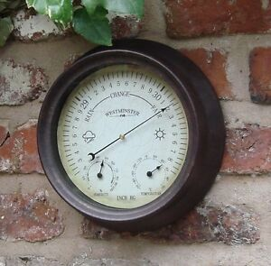 Image Is Loading Garden Outdoor Thermometer  Hygrometer Barometer 150mm 6 Inch