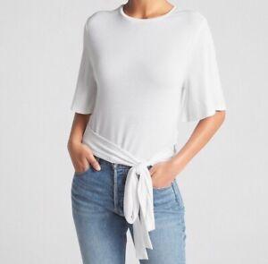 Gap-Womens-XX-Large-2XL-White-Belt-Blouse-With-Elegant-Back-Shirt-Nwt