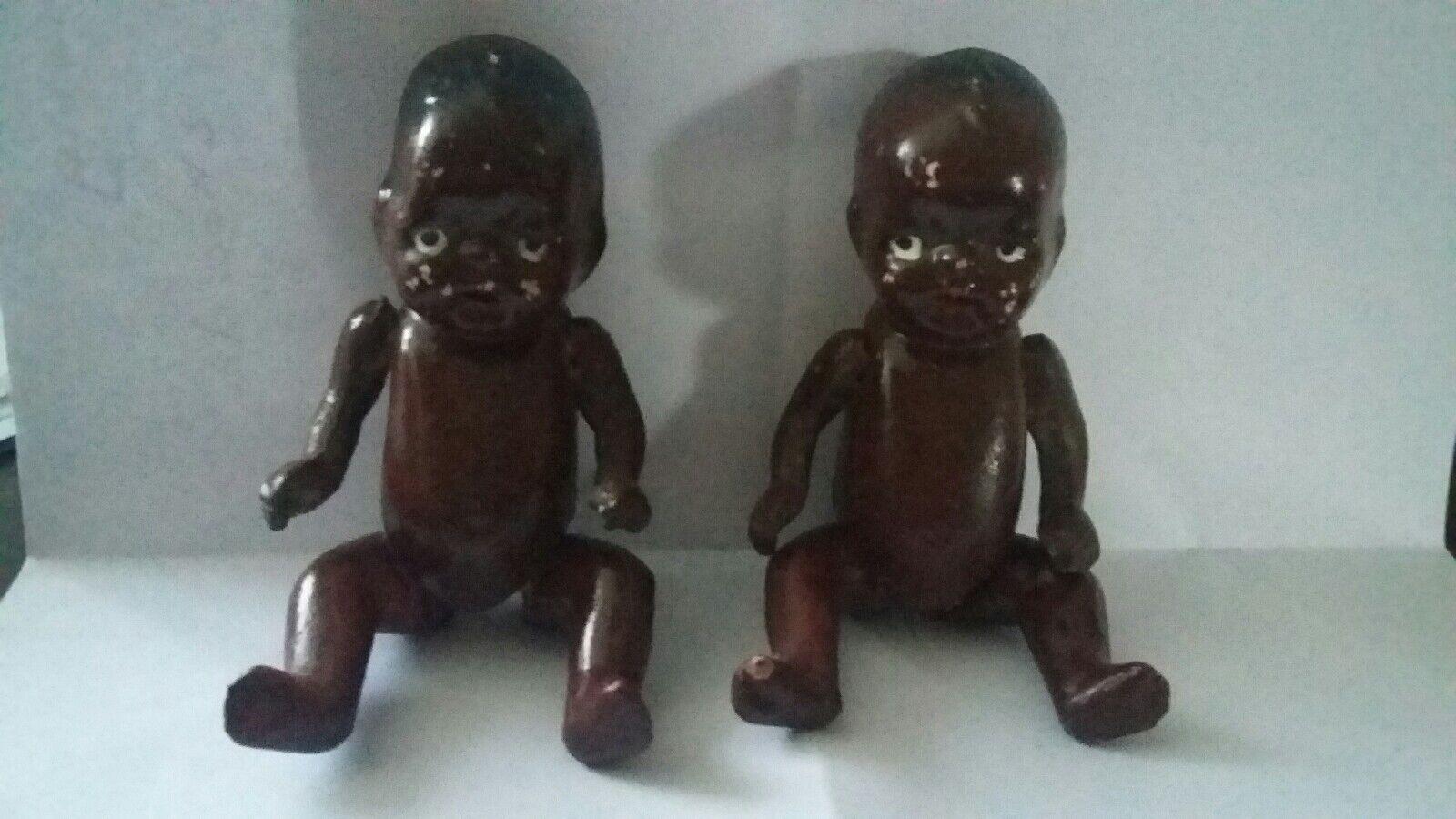 schwarz BABY DOLLS DOLLY VINTAGE PORCELAIN 10 CMS  Made in Japan