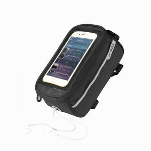 """MTB Bicycle Top Tube Phone Bag for 6/"""" Screen Size Bike Front Frame Bag with J1E6"""