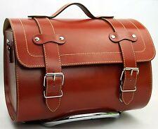 Medium Leather Top Case Roll Bag Vespa Primavera PX LXV GTS GTV Saddle Tan