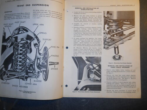 1949 FORD AND METEOR FRONT END SUSPENSION MASTER REPAIR MANUAL FORD OF CANADA
