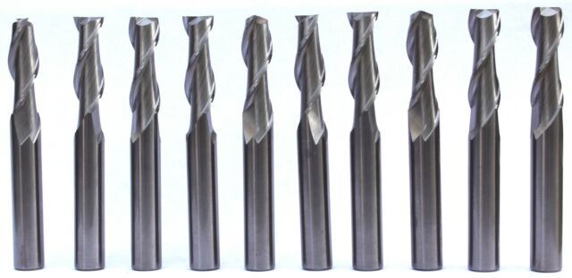 "10 Pcs 1//8/"" YG1 Alu-Power 3 Flute Regular Length Carbide End Mill for Aluminum"