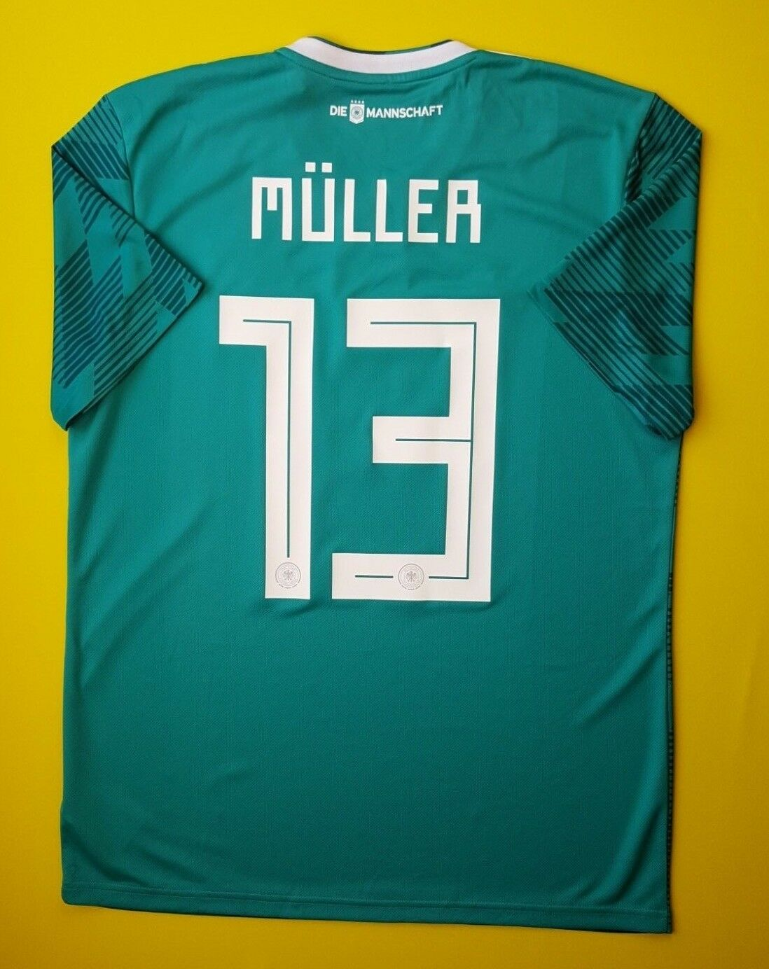 aaa87d337 5+ 5 Muller Germany jersey 2018 away shirt BR3144 soccer football Adidas