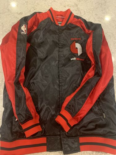 Vtg Portland Trail Blazers Jacket Hardwood Classic