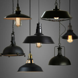 Industrial Loft Warehouse Barn Pendant Lamp Indoor Hanging Ceiling ...