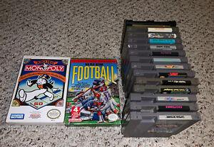 Lot Of 16 Nintendo NES Games Kung Fu Excitebike Jaws Rad Racer ++