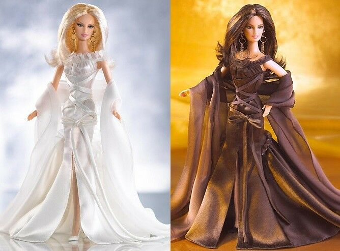 BARBIE DOLL NRFB - CHOCOLATE OBSESSION Negro & Blanco, G8878 & J3950, NUOVE