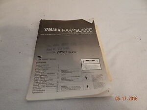 yamaha receivers owners manuals