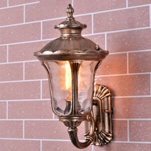 3920cc2f94ab Outdoor Wall Lights Garden Glass Wall Sconce Home Vintage Lighting ...