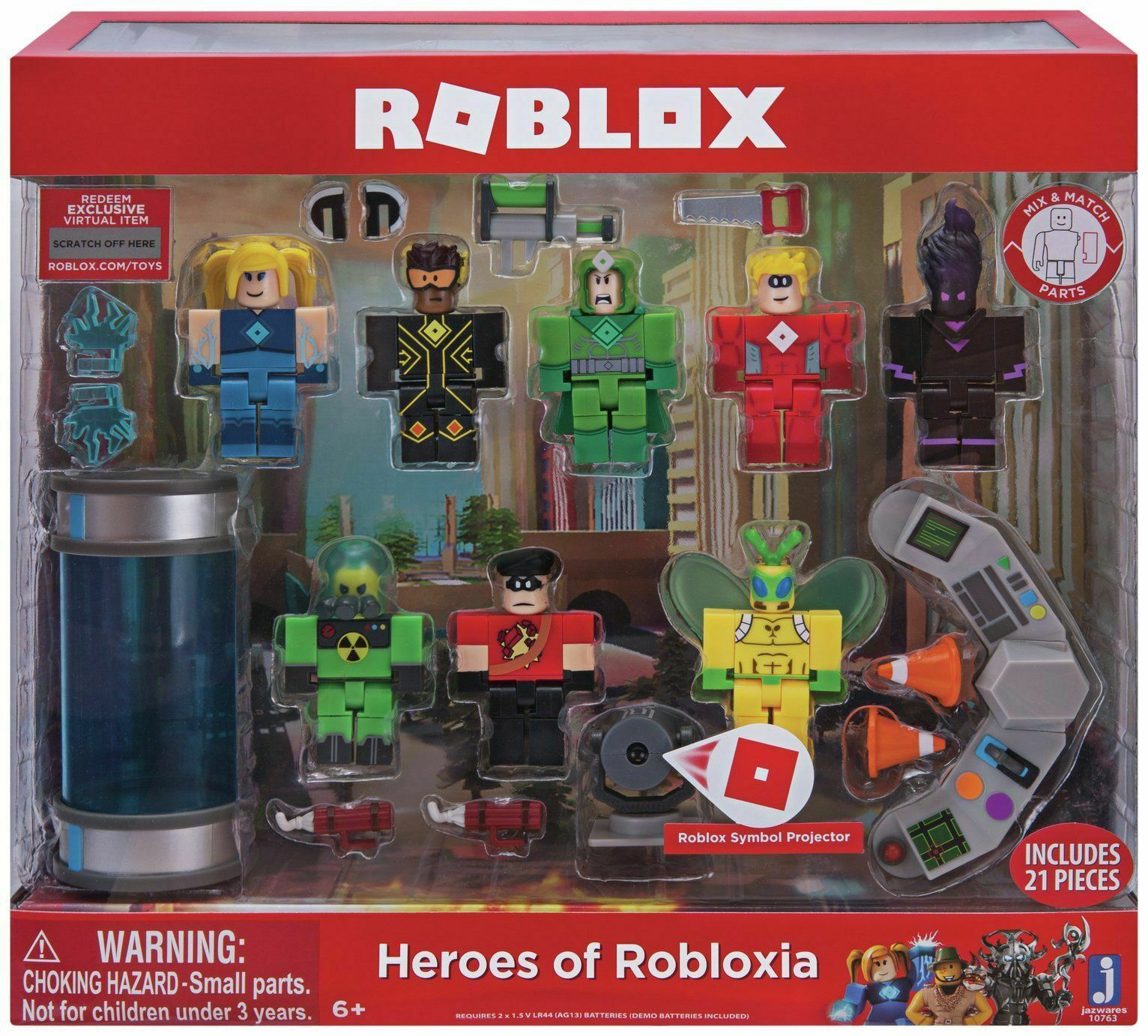 Roblox Heroes of of of Robloxia Feature Playset Series 4 8cc591