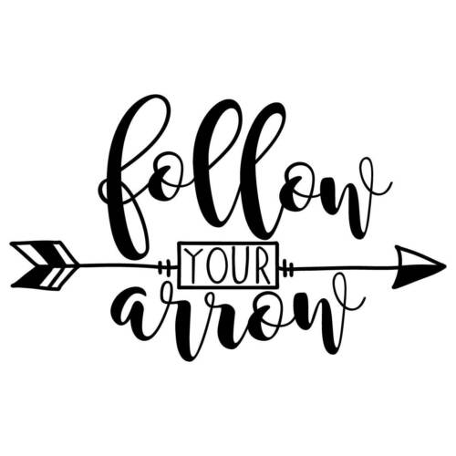Follow Your Arrow Vinyl Wall Graphic Decal Sticker