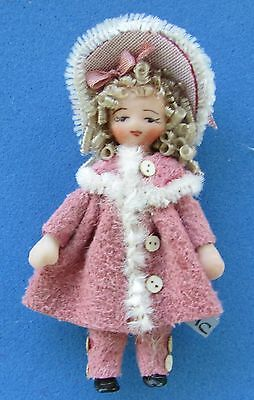 """Dollhouse Miniature Porcelain Dollhouse Doll Ethel Hicks """"Jillian"""""""