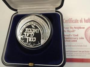 2000-Israel-52nd-Independence-Day-PR-Silver-coin-Love-Your-Neighbor-as-Yourself