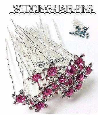 Crystal Hair Clip Rhinestone Diamante WeddingBridal Prom Styling Accessories