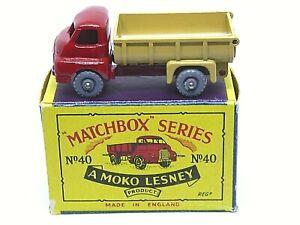 Matchbox-Lesney-No-40a-Bedford-034-Tipo-Volquete-en-tipo-B2-Serie-Moko-Caja-GPW