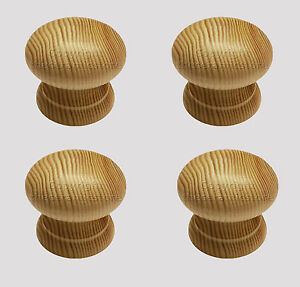 Pine Wooden / Wood Cupboard Kitchen Cabinet Drawer Door Knobs With Pilot Hole