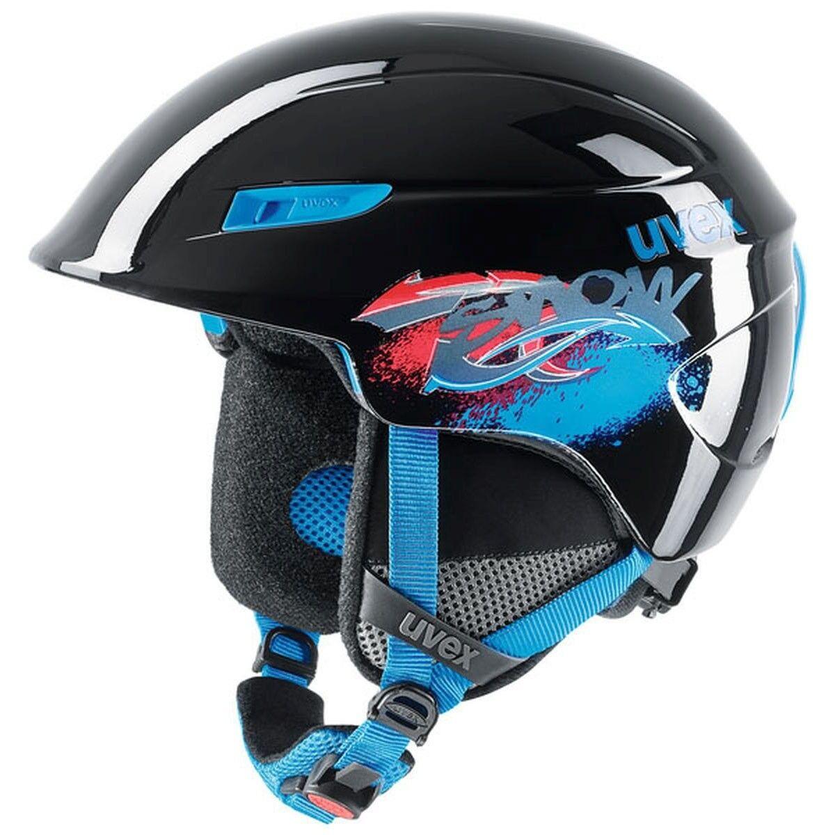 UVEX u-kid Skihelm black blue