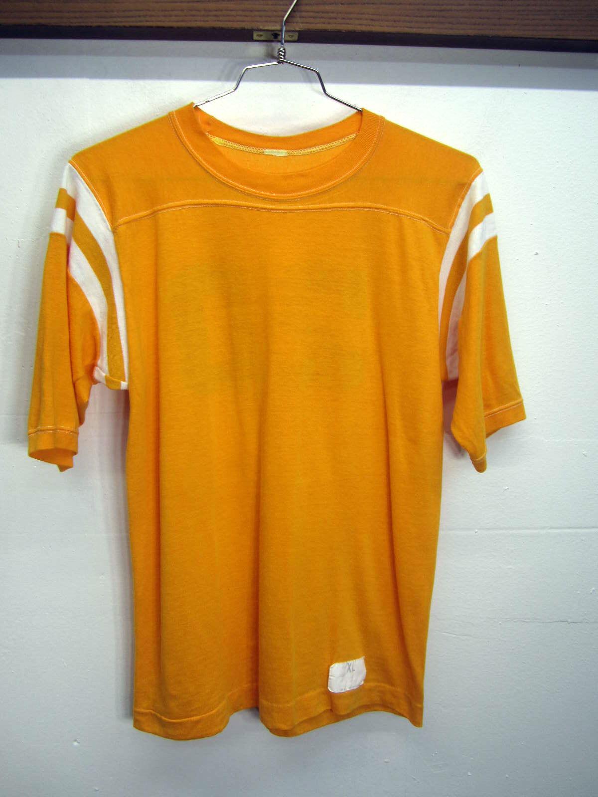 Vtg Champion Jersey retro Gelb polycotton 1/2 sleeve  20 sz XL made in USA