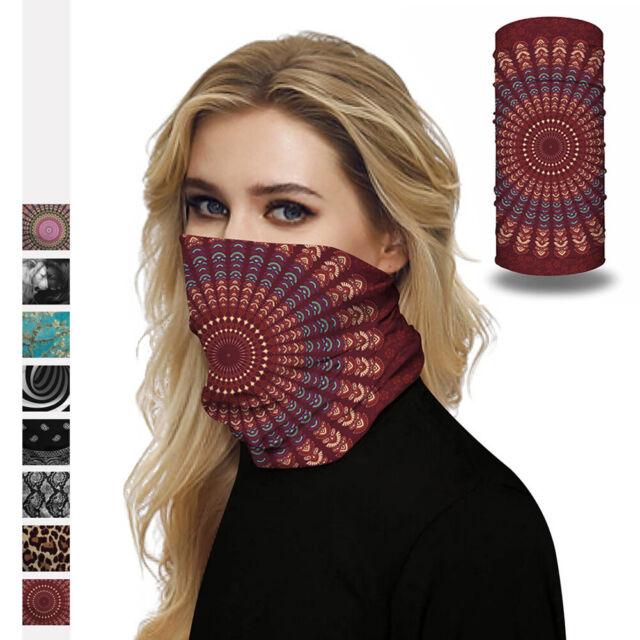 Tube Scarf Bandana Neck Gaiter Mouth Head Face Protect Headband Outdoor Cap