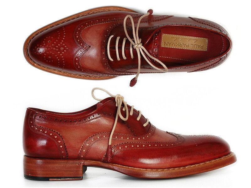 Scarpe casual da uomo  Paul Parkman Uomo all'Inglese Oxford Bordeaux & Cammello (ID#027B)