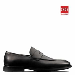 Clarks RONNIE STEP Black Mens Slip-on Dress/Formal Leather Shoes