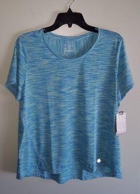 Tek Gear DryTEK Women/'s XL PETITE Workout Tee Athletic Shirt BLUE GREEN  #150817