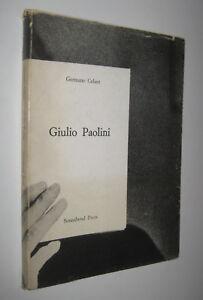 Germano-Celant-GIULIO-PAOLINI-Sonnabend-Press-1972-arte-povera